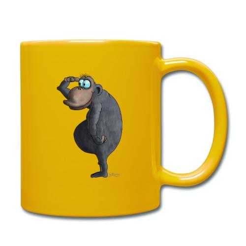 cooler Affe - Tasse einfarbig