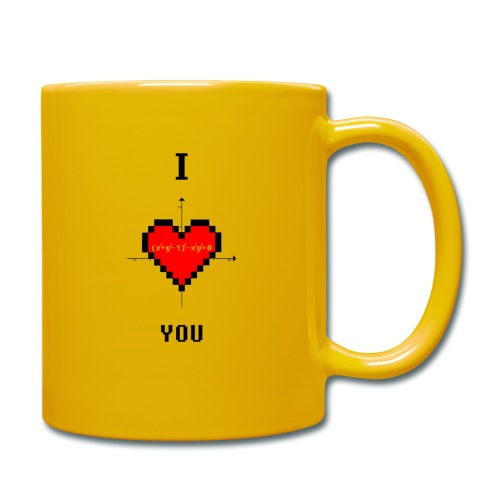 I LOVE YOU - Tazza monocolore