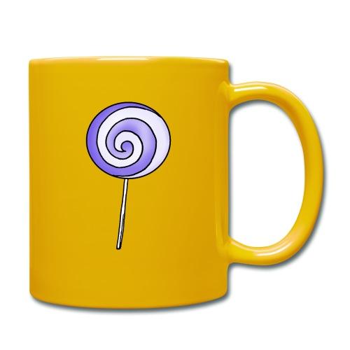 geringelter Lollipop - Tasse einfarbig