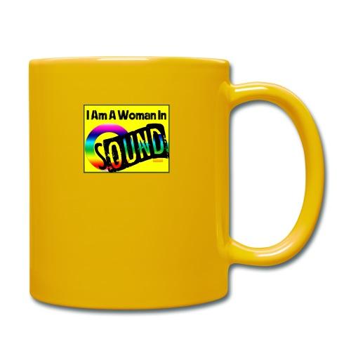 I am a woman in sound - rainbow - Full Colour Mug
