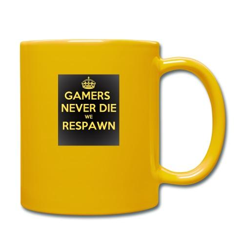 gamers never die we respawn 1 - Ensfarvet krus