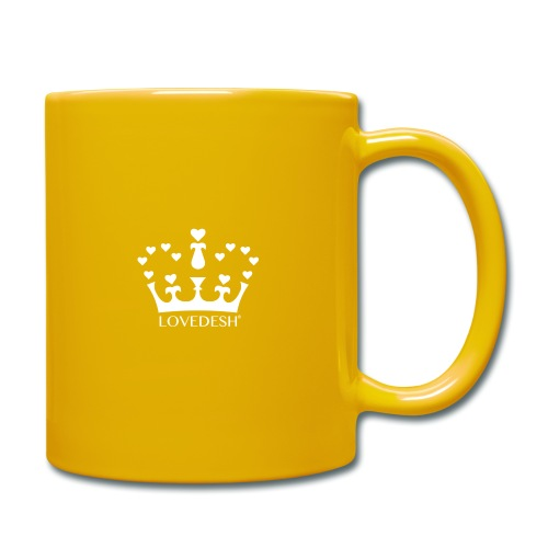 White Lovedesh Crown, Ethical Luxury - With Heart - Full Colour Mug