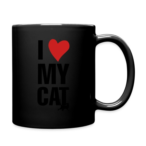 I_LOVE_MY_CAT-png - Taza de un color