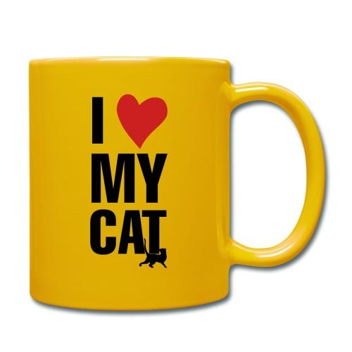 I_LOVE_MY_CAT-png - Taza de un color