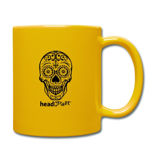 Skull & Logo black - Tasse einfarbig