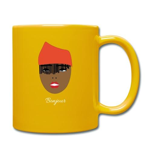 Orange lady - Enfärgad mugg