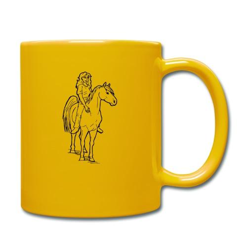 freie Reiterin - Tasse einfarbig