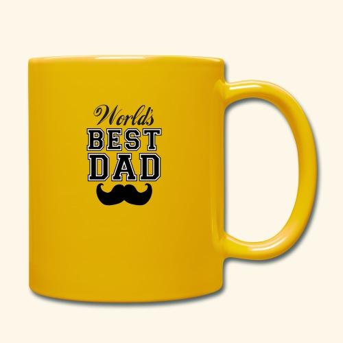 Worlds best dad - Ensfarvet krus