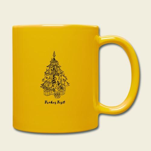 Frohes Fest! - Christbaum - Tasse einfarbig