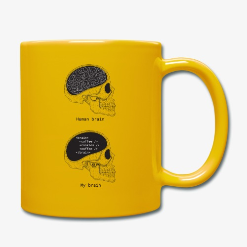 Human programmer brain | Memes | Web jokes - Full Colour Mug