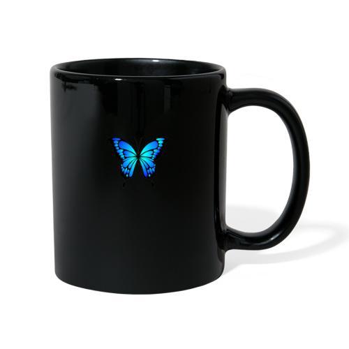 Blå fjäril - Enfärgad mugg
