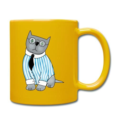 Cat with glasses - Full Colour Mug