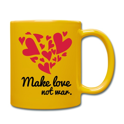 Make Love Not War T-Shirt - Full Colour Mug