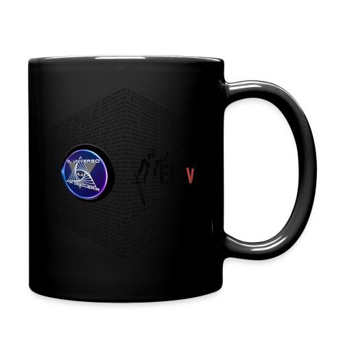 disen o dos canales cubo binario logos delante - Full Colour Mug