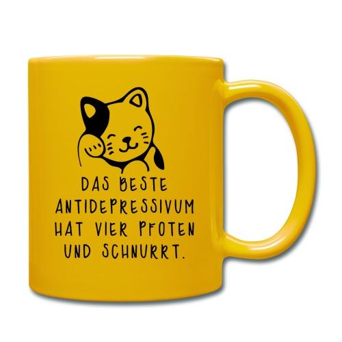 Katzen sind das beste Antidepressivum - Tasse einfarbig