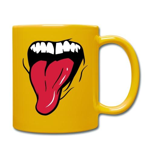 MUND + ZUNGE - Tasse einfarbig