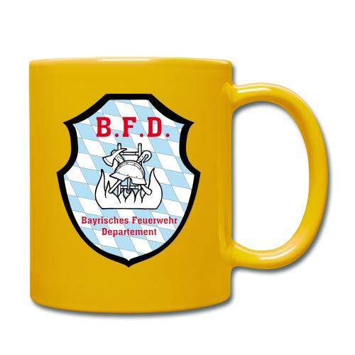 Inoffizielles bayrisches Feuerwehrabzeichen - Tasse einfarbig