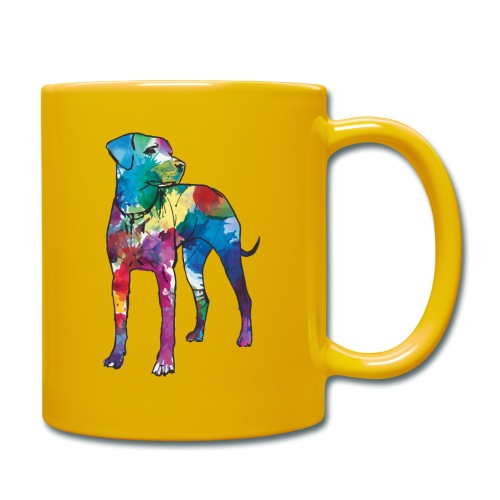 Labrador Hund Hunde bunte Silhouette - Tasse einfarbig