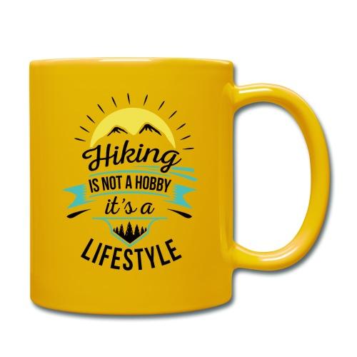 Wandern ist kein Hobby, es ist ein Lifestyle - Tasse einfarbig