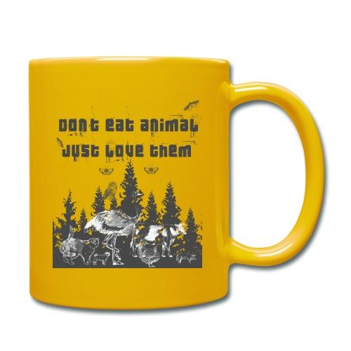 Tierliebhaber Tierliebe Vegetarisch Vegan - Tasse einfarbig