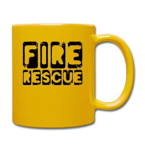Fire Rescue Feuerrettung Feuerwehr Retter - Tasse einfarbig