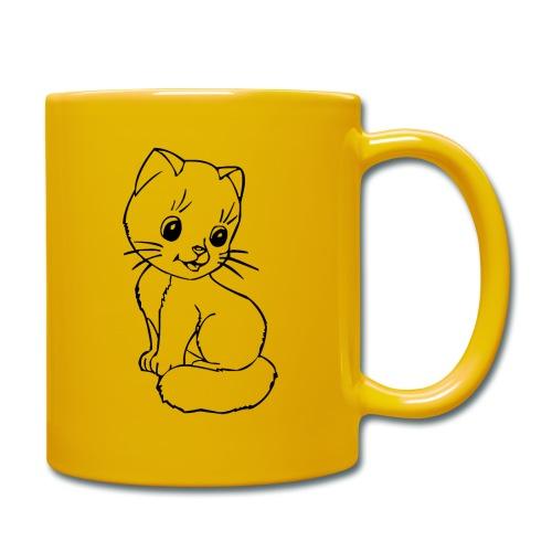 Katzen Symbol Katze süß Kützchen Haustier - Tasse einfarbig