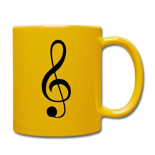 Musik Symbol Musikschlüssel Notenschlüssel - Tasse einfarbig
