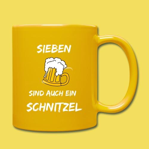 Sieben Bier - weiß - Tasse einfarbig
