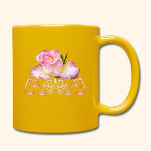 Rose pink, Ornament, Rosen, Blumen, Blüten, floral - Tasse einfarbig