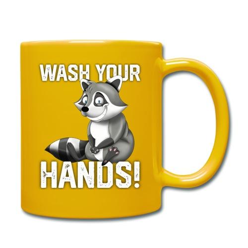 Wash Your Hands | Raccoon Lover | Wash Hand - Tazza monocolore