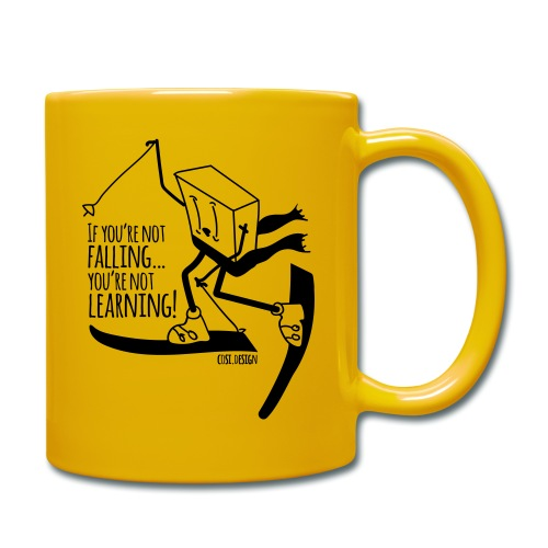 if you're not falling you're not learning - Full Colour Mug