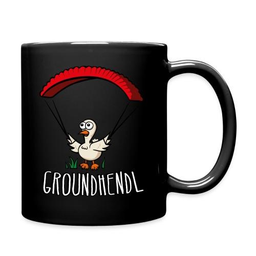 Groundhendl Paragliding Huhn - Tasse einfarbig