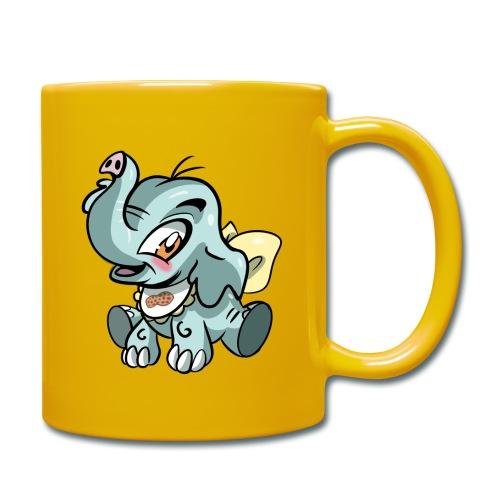 Kleine olifant cartoon`grappige met pinda - Mok uni