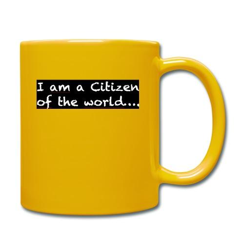 I am a citizen of the world - Enfärgad mugg