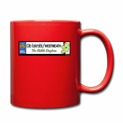 WESTMEATH, IRELAND: licence plate tag style decal - Full Colour Mug