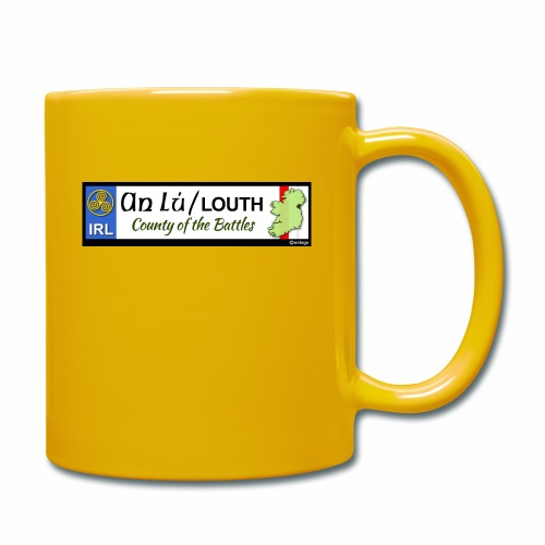 CO. LOUTH, IRELAND: licence plate tag style decal - Full Colour Mug