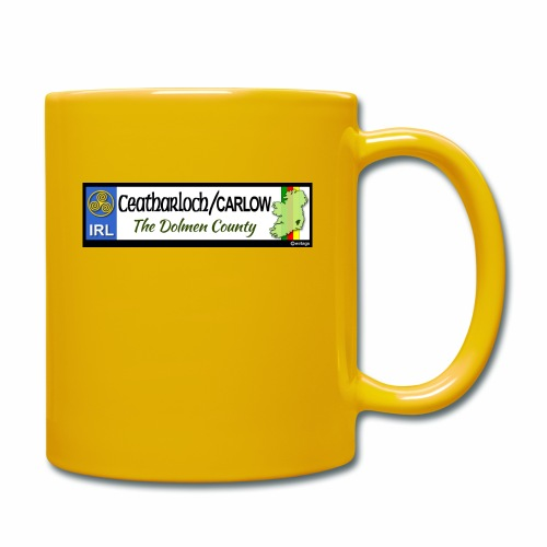 CARLOW, IRELAND: licence plate tag style decal - Full Colour Mug
