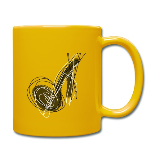 MUSIC NOTE ABSTRACT - Tasse einfarbig