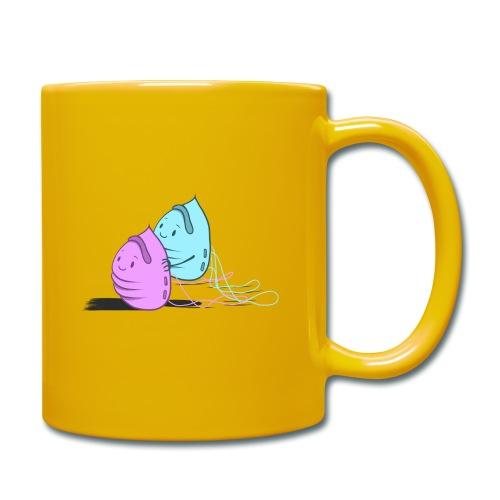 Maskenpaar - Tasse einfarbig