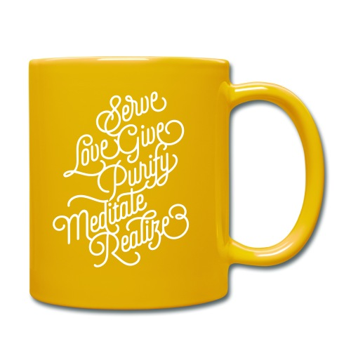 Serve Love Give Purify Meditate Realize - Tasse einfarbig