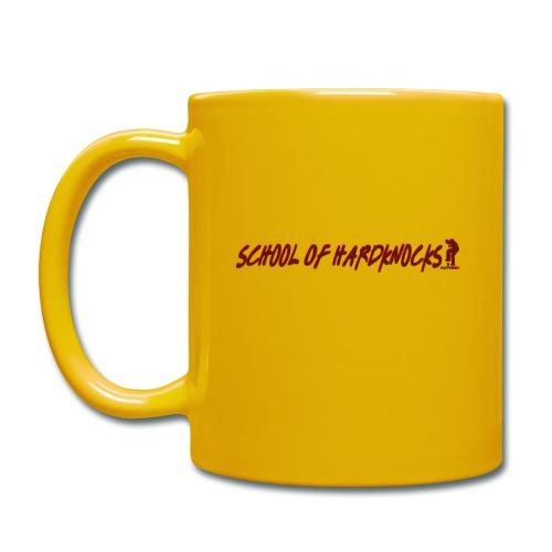 school of hardknocks ver 0 1 red - Ensfarvet krus