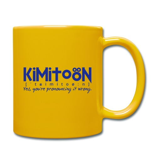 Kimitoön: yes, you're pronouncing it wrong (blå) - Yksivärinen muki