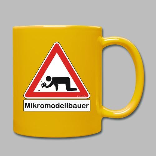 Warnschild Mikromodellbauer Auto - Tasse einfarbig