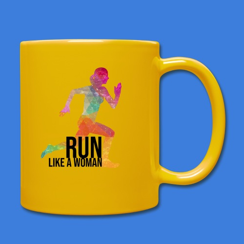 Run like a woman - Tasse einfarbig