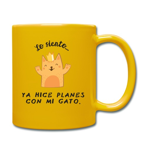 Planes con mi gato - Taza de un color