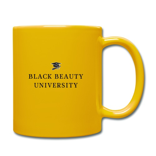 BLACK BEAUTY UNIVERSITY LOGO BLACK - Mug uni