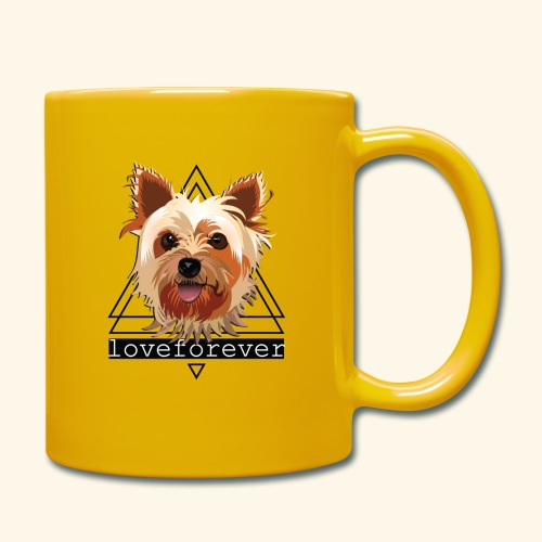 YORKIE LOVE FOREVER - Taza de un color