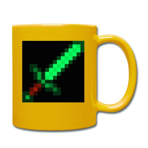 green emerald MCPE sword - Full Colour Mug