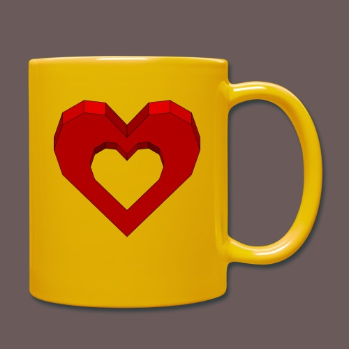 Heart Illusion - Ensfarvet krus