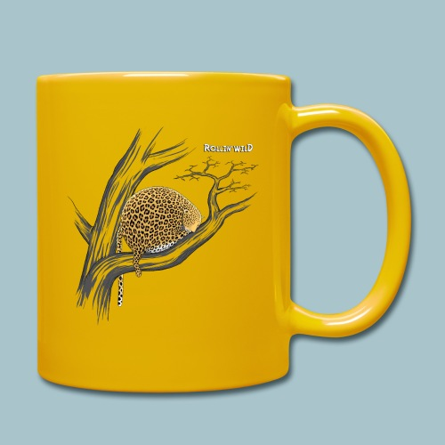 Rollin' Wild - Leopard on tree - Full Colour Mug